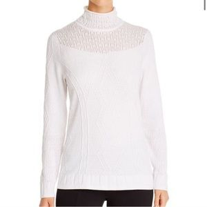 NIC+ZOE Flash Pointelle Detail Sweater